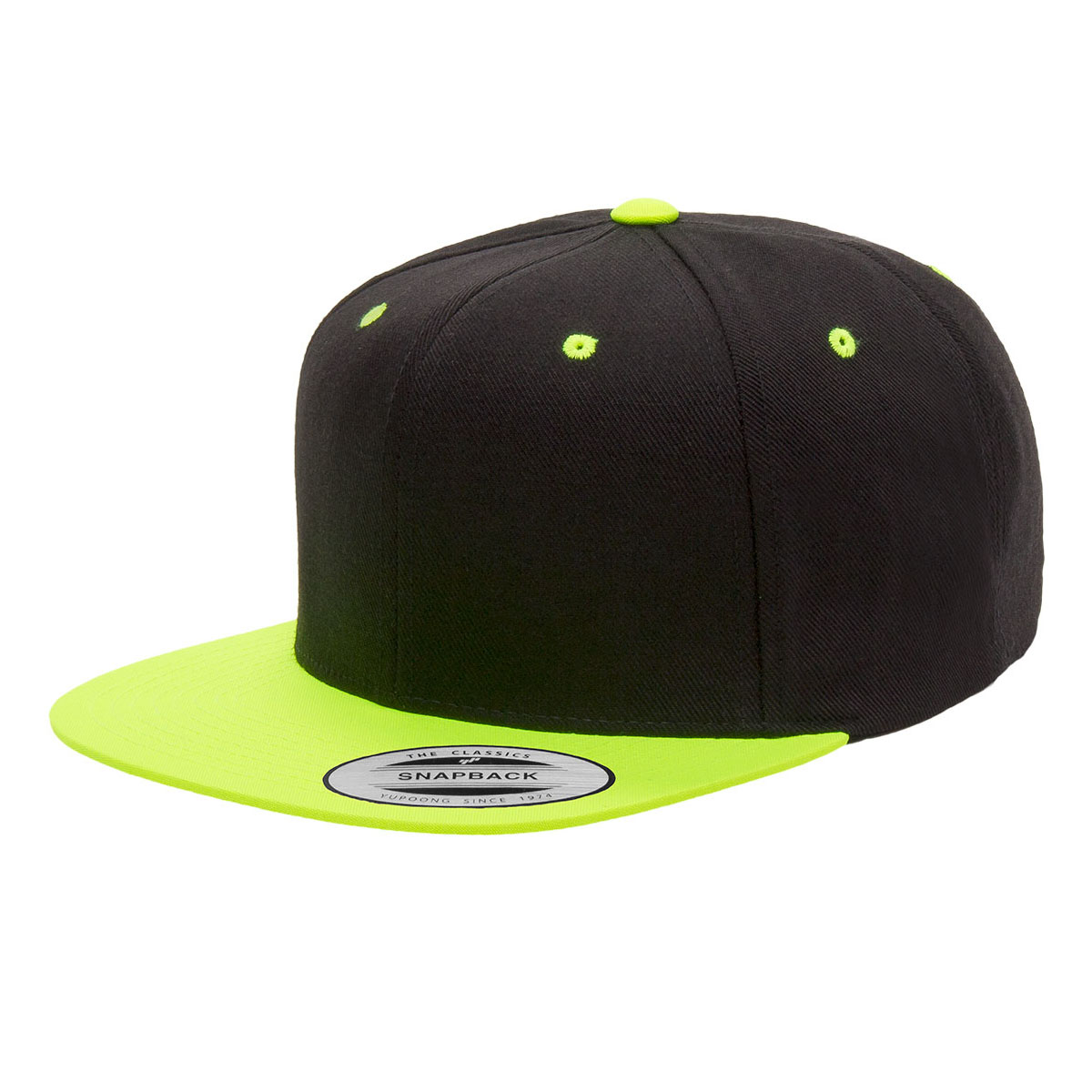 fb934fc25 Black/Neon Green Snapback Embroidered