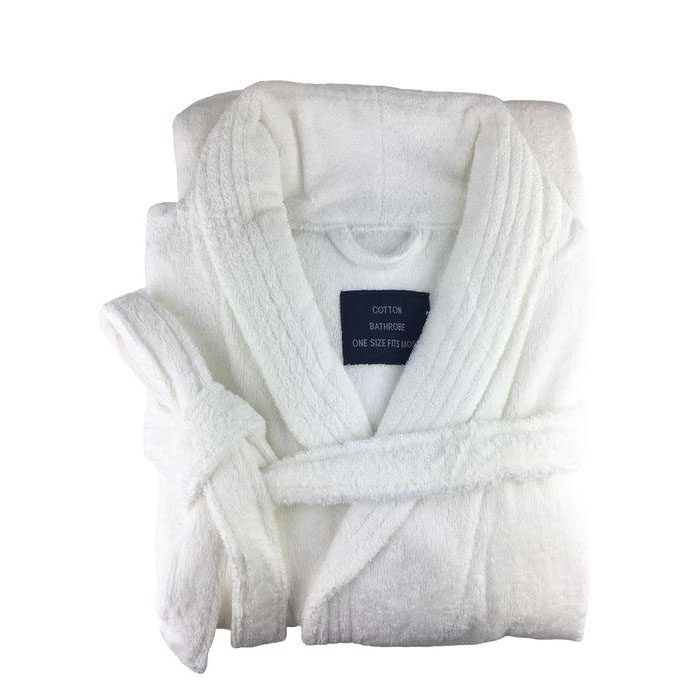 Towelling Bathrobe White
