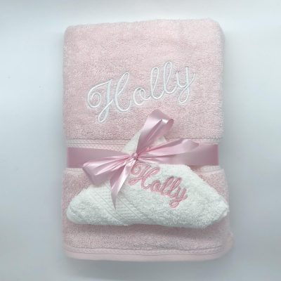 Ritz Gift Set Baby Pink and White