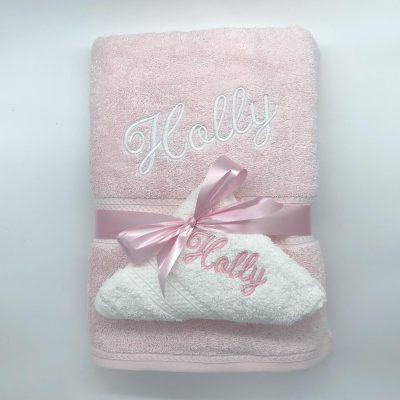 Ritz Gift Set Baby Pink and White