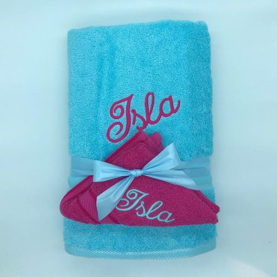Ritz Set Turquoise and Fuschia