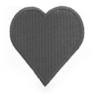 Solid Heart (same colour as text)
