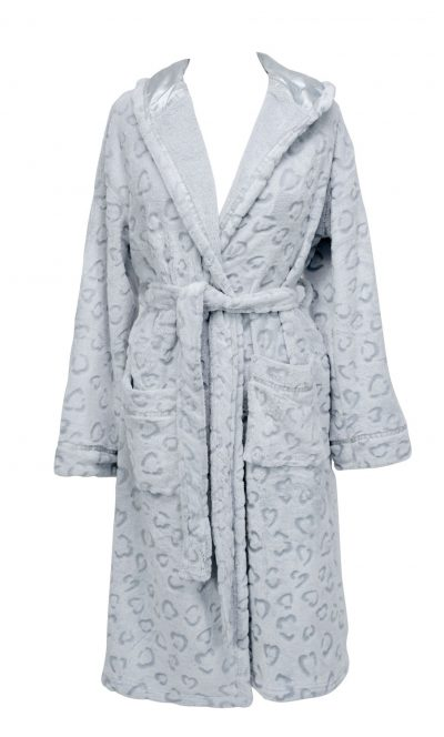 Annabel Trends Bath Robe Ocelot Silver/Grey