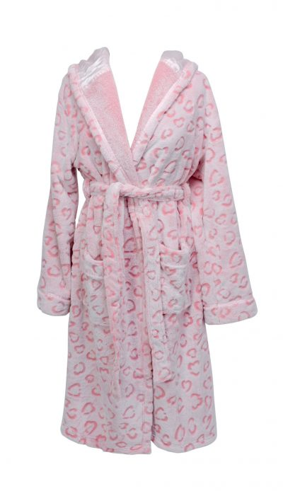 Annabel Trends Bath Robe Ocelot Pink