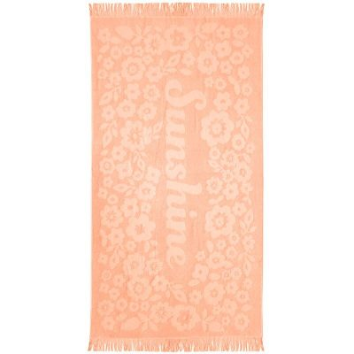 Express Sunshine Beach Towel - Peach